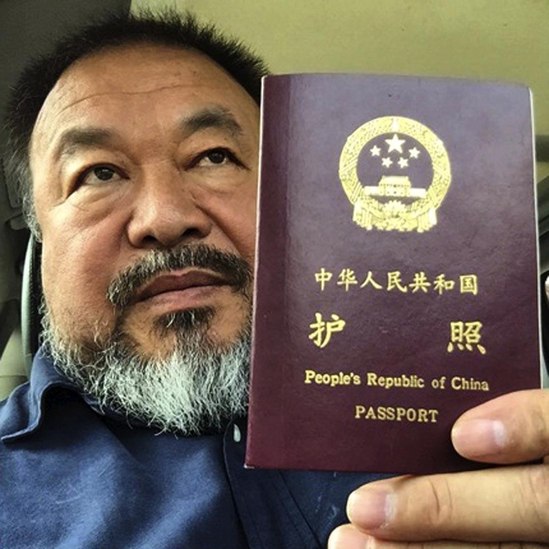 艾未未重獲官方發還護照。攝: Ai Weiwei/Handout via Reuters