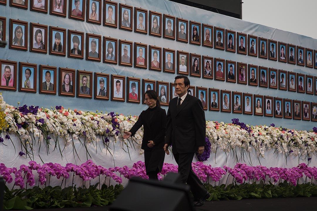 台灣總統馬英九出席地震死難者追思會與聯合公祭。攝:Billy H.C. Kwok/端傳媒