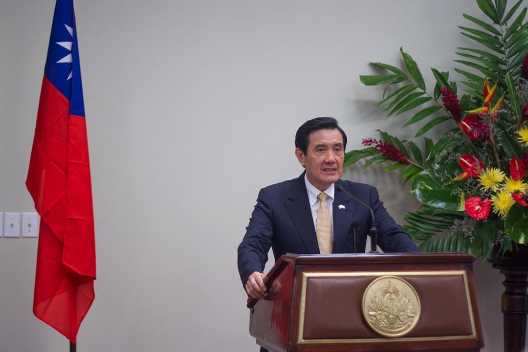 對於國民黨前主席、台灣前副總統連戰即將參加北京閱兵一事,台灣總統馬英九表示「不宜參加」。攝 : Pierre Michel Jean/AFP