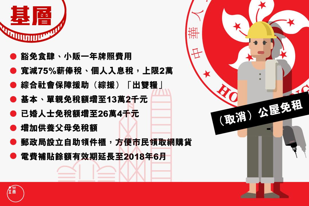 預算案圖 - 基層。圖:Wilson Tsang / 端傳媒