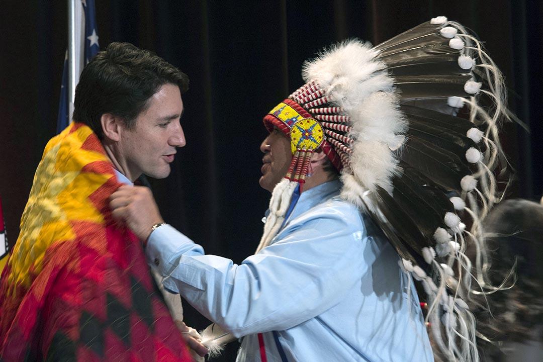 加拿大總理賈斯汀·杜魯多宣布啟動對原住民女性失蹤和被謀殺問題的公開研訊。攝 : Adrian Wyld/The Canadian Press via AP