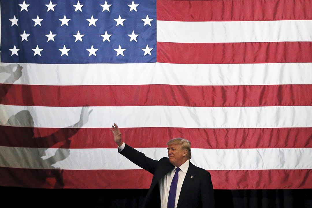 2月23日,美國總統大選共和黨參選人特朗普贏得內華達州初選。攝 : Jim Young/REUTERS