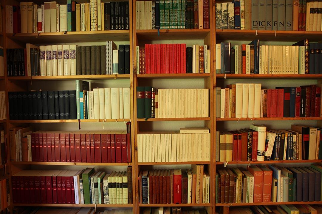 Werner 清楚地記得自己的圖書室有3078本書,大概只看了九百本,還需要海量的閱讀。攝:Oliver Radtke