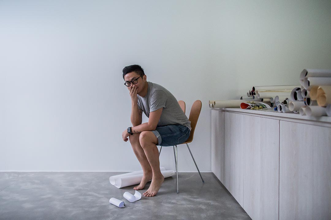 台灣平面設計師聶永真。攝: Billy H.C. Kwok/ 端傳媒