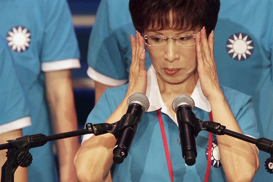 台灣國民黨總統候選人洪秀柱在台北發表演講。攝:Pichi Chuang/Reuters