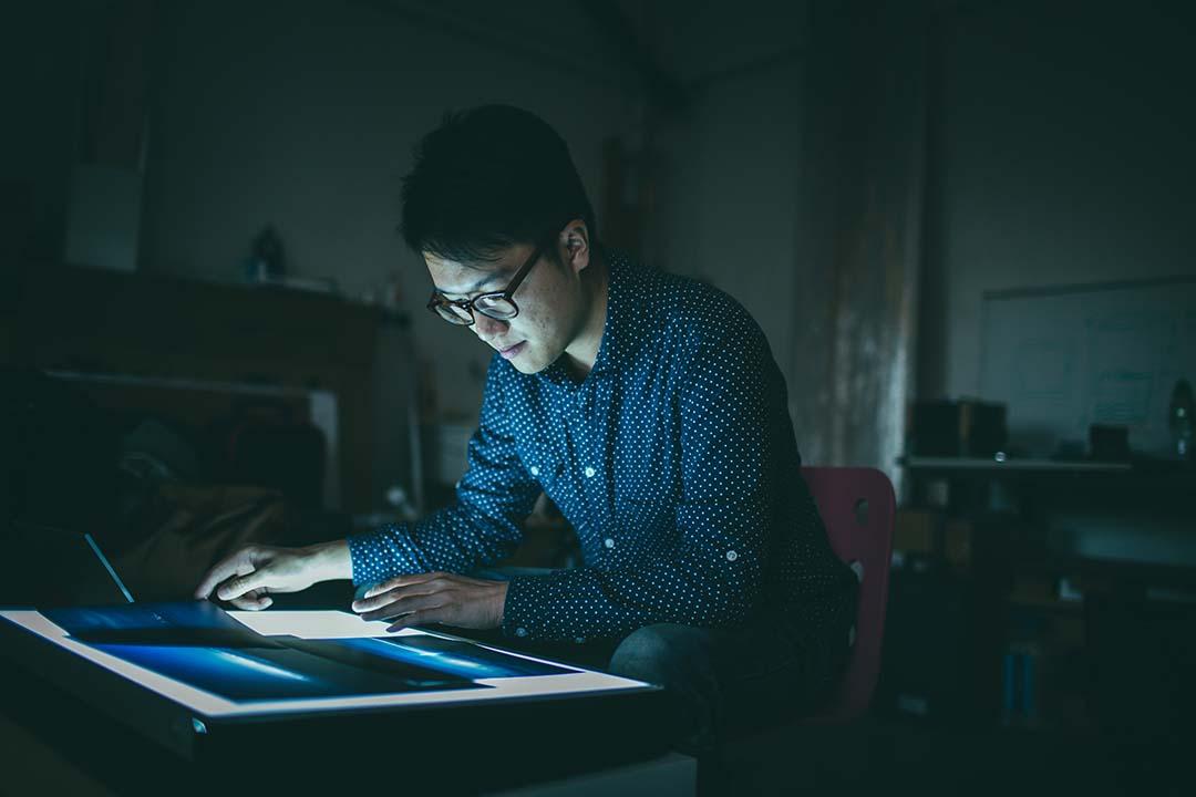 年輕藝術家蕭偉恒。攝:王嘉豪/端傳媒