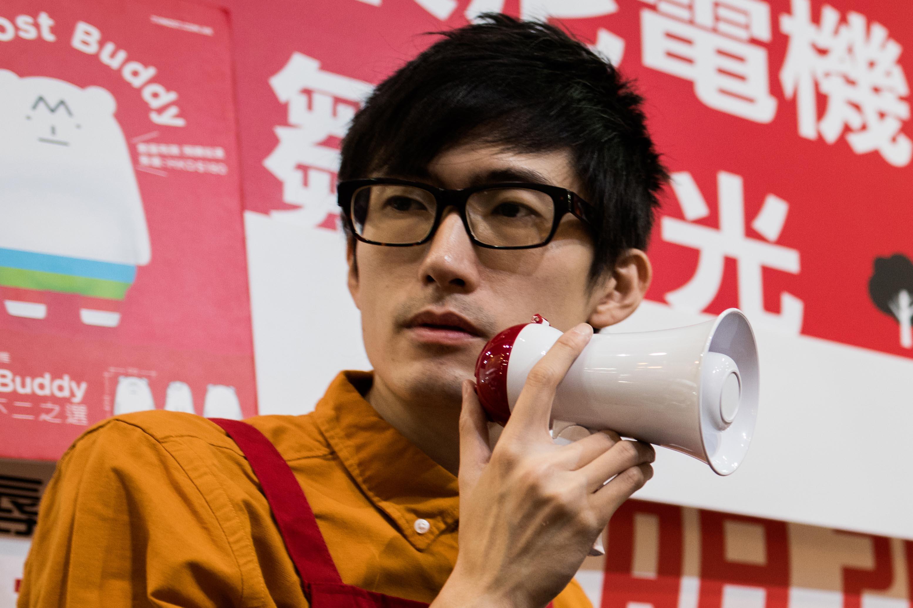 林日曦表示他一般不自拍。攝:Lit Ma/端傳媒