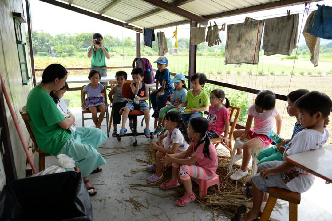 讓孩子知道水田對保育的意義,正是可持續發展的未來方向。相片由綠腳丫提供