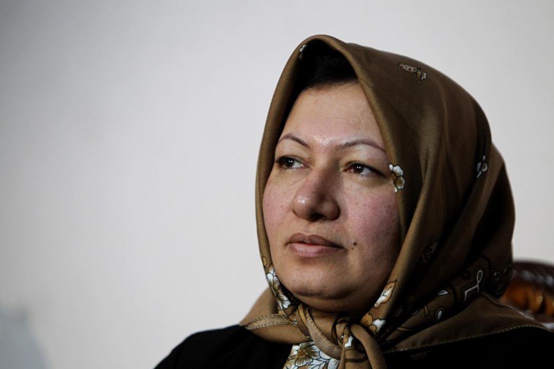 伊朗人權律師Javid Houtan Kian辯護的Sakineh Mohammedi Ashtiani。攝 : Atta Kenare/AFP