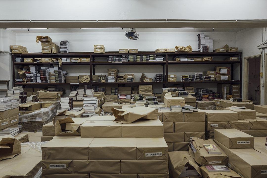 巨流傳媒位於柴灣倉庫。 攝 : Anthony Kwan/端傳媒