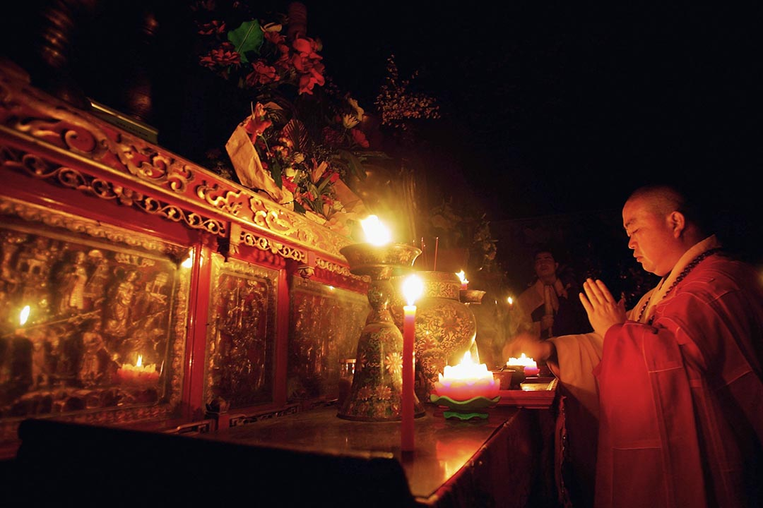 連日來身陷舉報風波的少林寺方丈釋永信,被外界懷疑其正在接受調查。圖為釋永信。攝 :  Cancan Chu/Getty Images