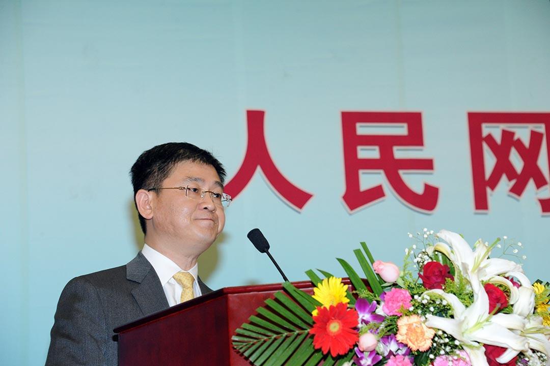 早前被查的前人民網總裁廖玒。攝 : Zhu ying/Imaginechina