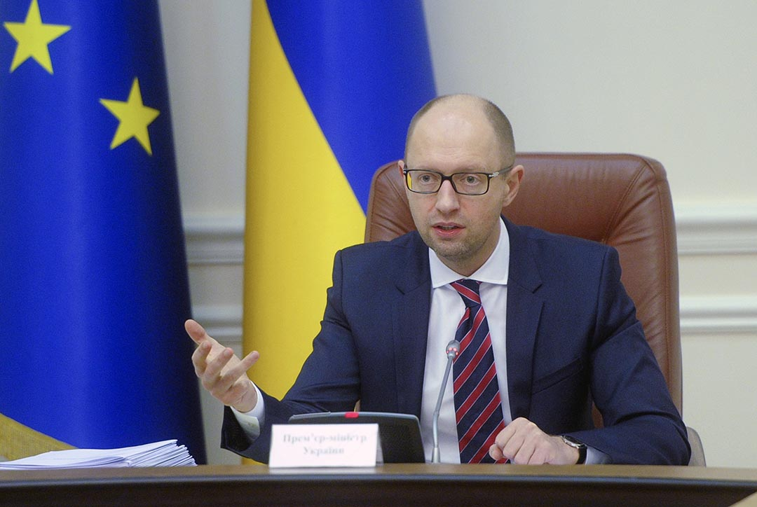 烏克蘭總理阿爾謝尼·亞采尼克(Arseniy Yatsenyuk)。攝 : Andrew Kravchenko/AP