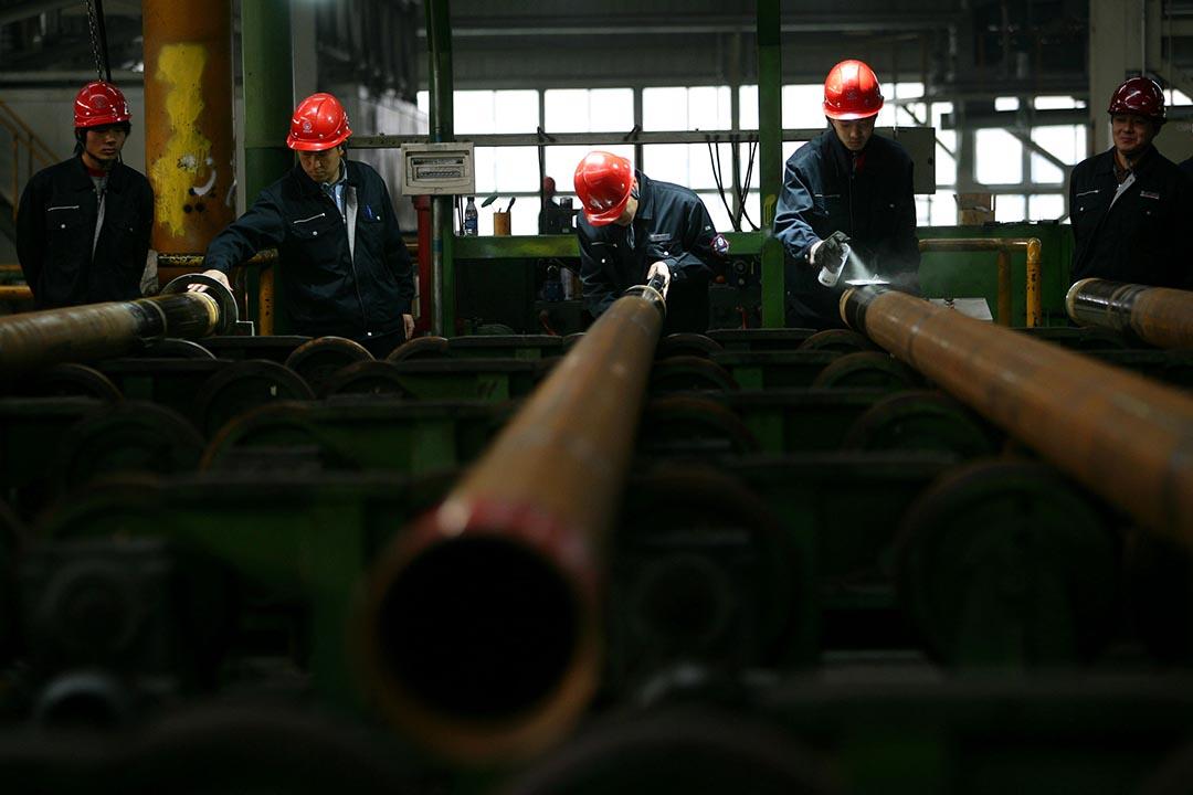 中國國家統計局數據顯示全國鋼鐵產量出現下跌,預計明年大批鋼廠可能面臨倒閉。攝 : GETTY