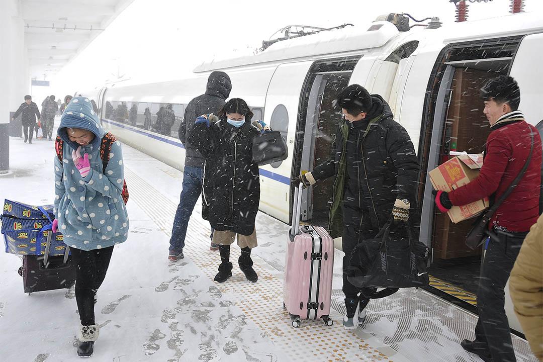 中國山東省落下大雪。攝:China Daily/REUTERS