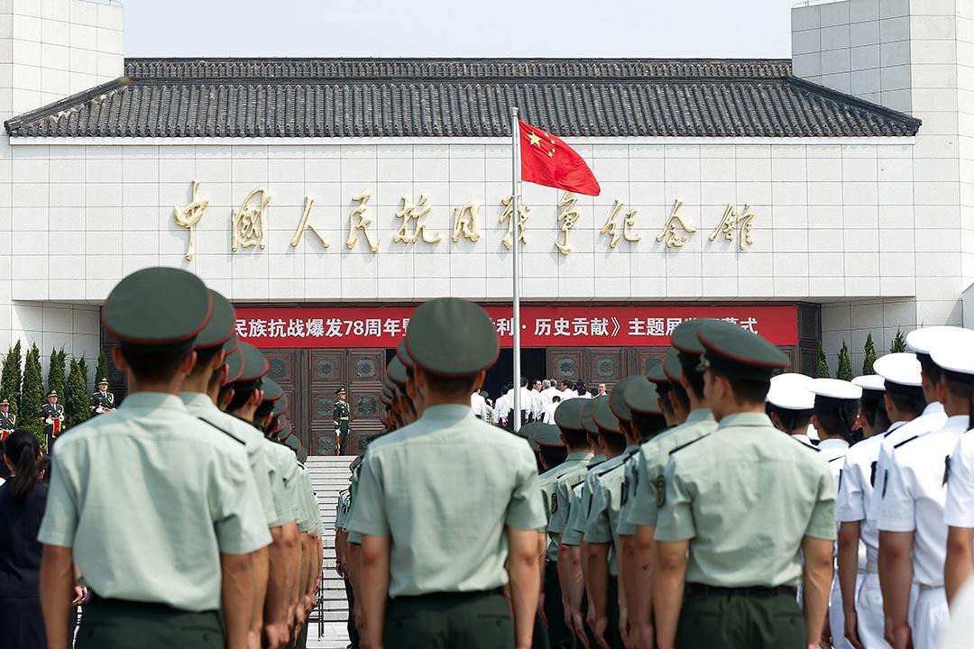 中國舉行一連串紀念七七抗戰爆發78週年的活動。攝:Lintao Zhang/Getty Images