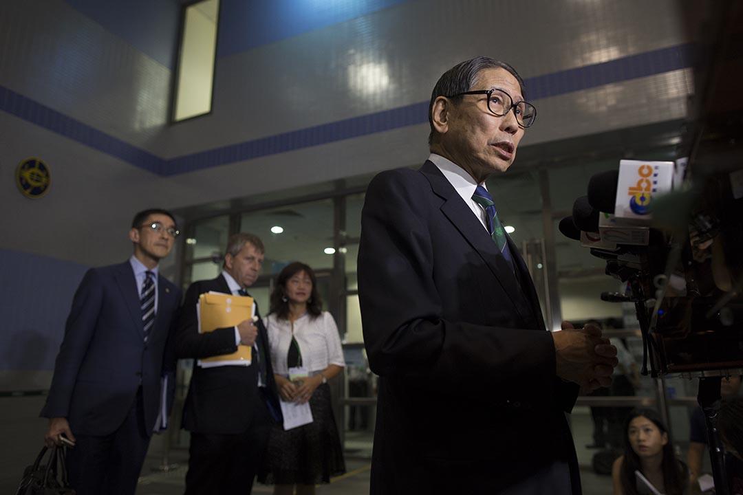 香港大學校務委員會主席梁智鴻表示港大校委會將於下月討論副校長人選建議。 攝: 羅國輝/端傳媒