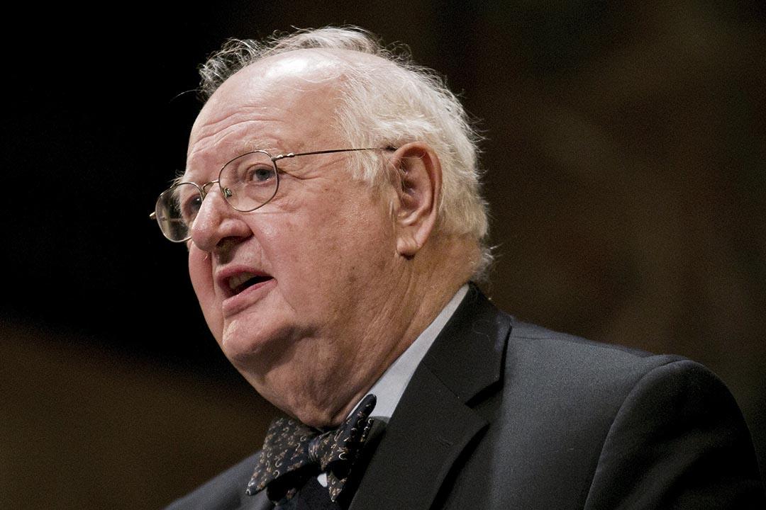 諾貝爾經濟學獎得主、美國普林斯頓大學教授安格斯·迪頓出席記者會。攝: Dominick Reuter /Reuters