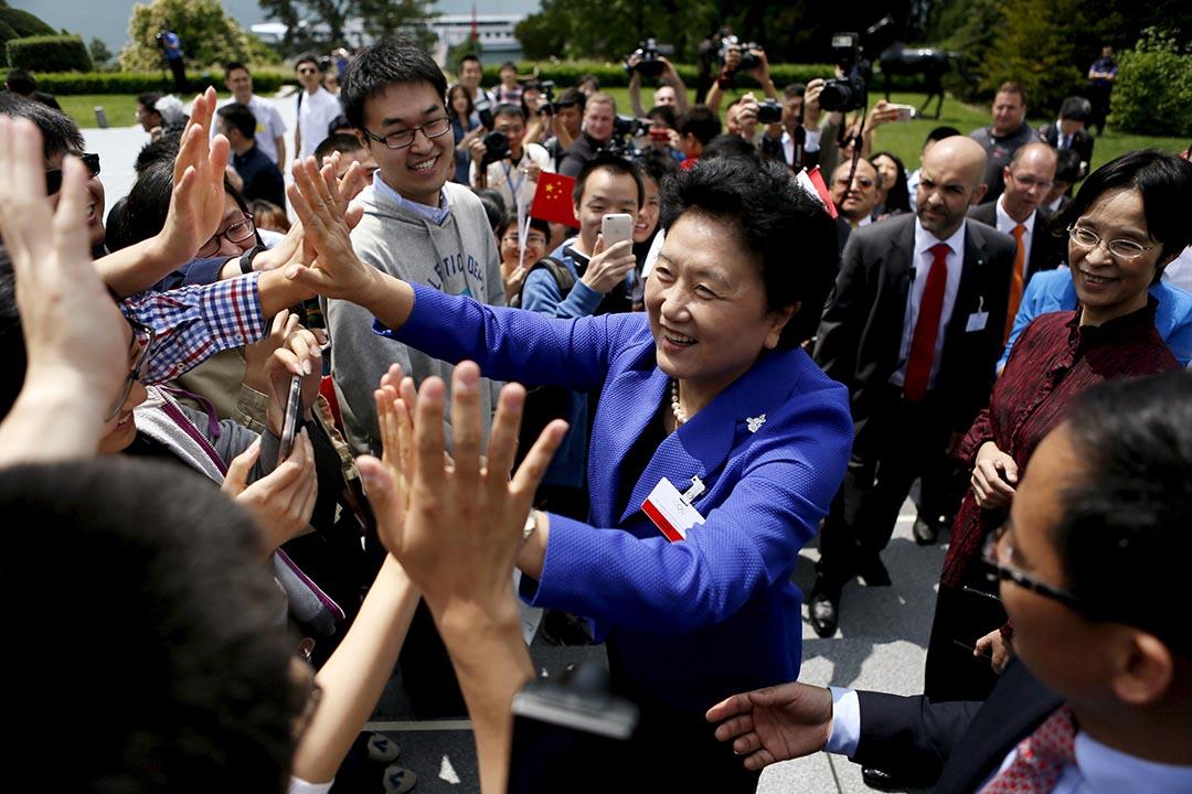 中共中央政治局委員、國務院副總理劉延東。攝:Pierre Albouy /REUTERS