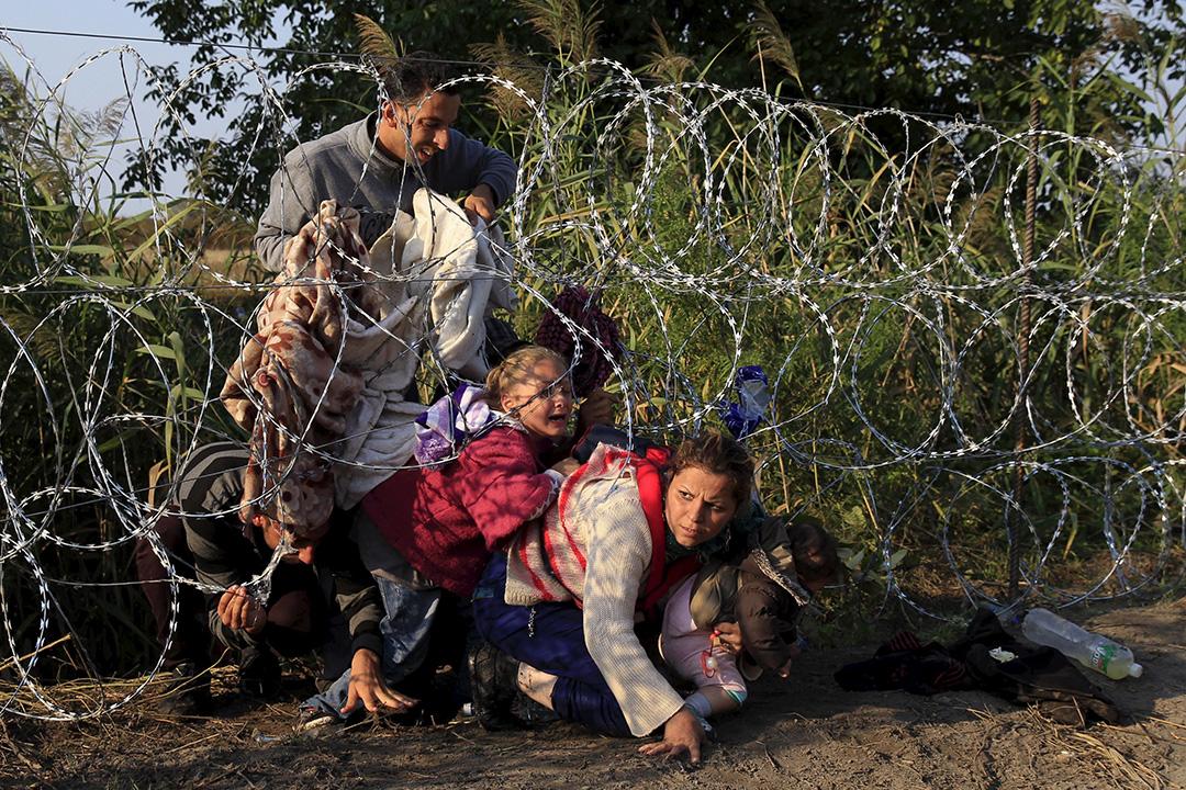 敘利亞難民在匈牙利和塞爾維亞邊界越過籬笆,匈牙利政府表示難民數字急升,考慮調派軍隊到邊境執法。