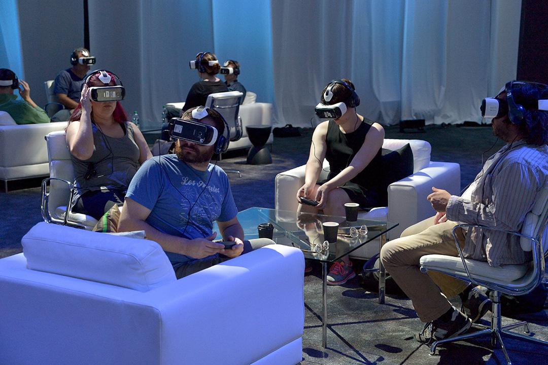 美國舉行的一場應用虛擬現實技術的視聽展覽。攝: Charley Gallay/GETTY