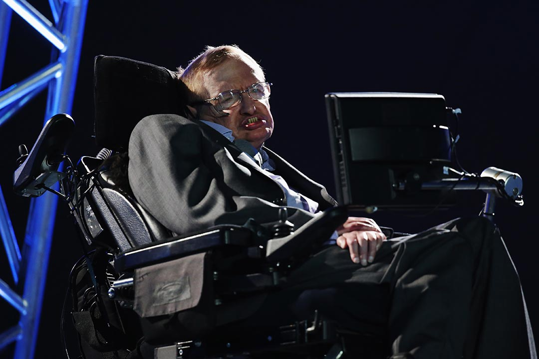 英國著名物理學家史蒂芬·霍金(Stephen Hawking)。攝 : Dan Kitwood/Getty Images