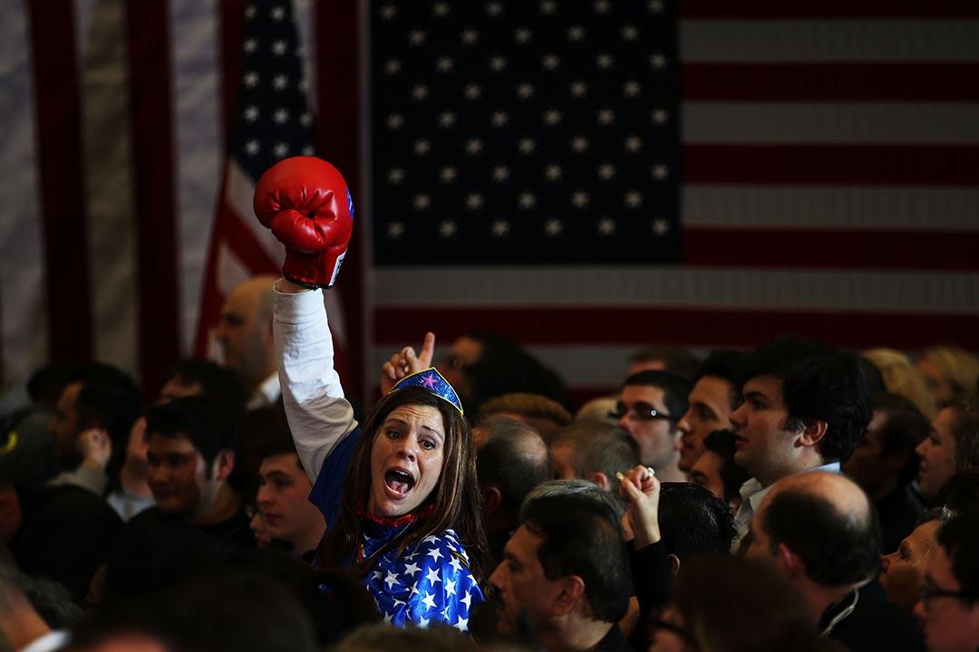 在艾奧瓦州開黨團會議,民主黨和共和黨總統參選人將爭取提名代表兩黨角逐總統。攝 : Justin Sullivan/GETTY