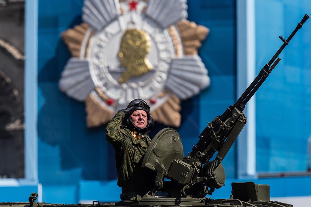 2015年5月9日,莫斯科,俄羅斯士兵在二戰勝利七十週年閱兵上。攝:Alexander Aksakov/GETTY