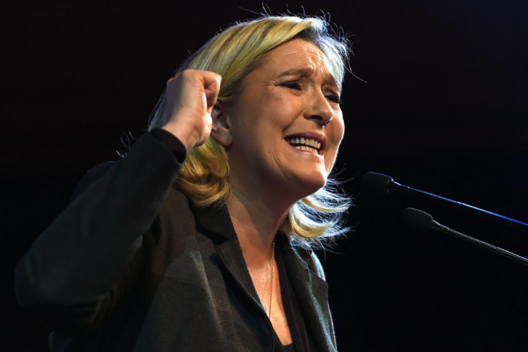 法國極右翼政黨國民陣線主席瑪琳勒龐(Marine Le Pen)攝 : Pascal Guyot/AFP