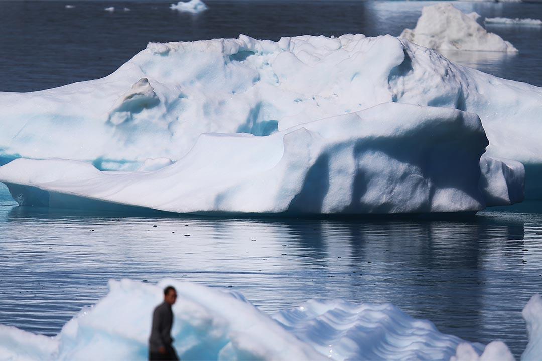 格陵蘭納爾薩克冰山。攝:Joe Raedle/Getty