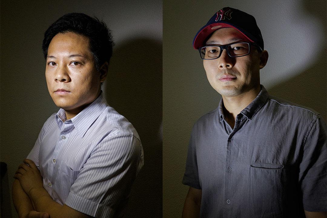 羅昌平(左)與龍志。攝:Nicola Longobardi/端傳媒