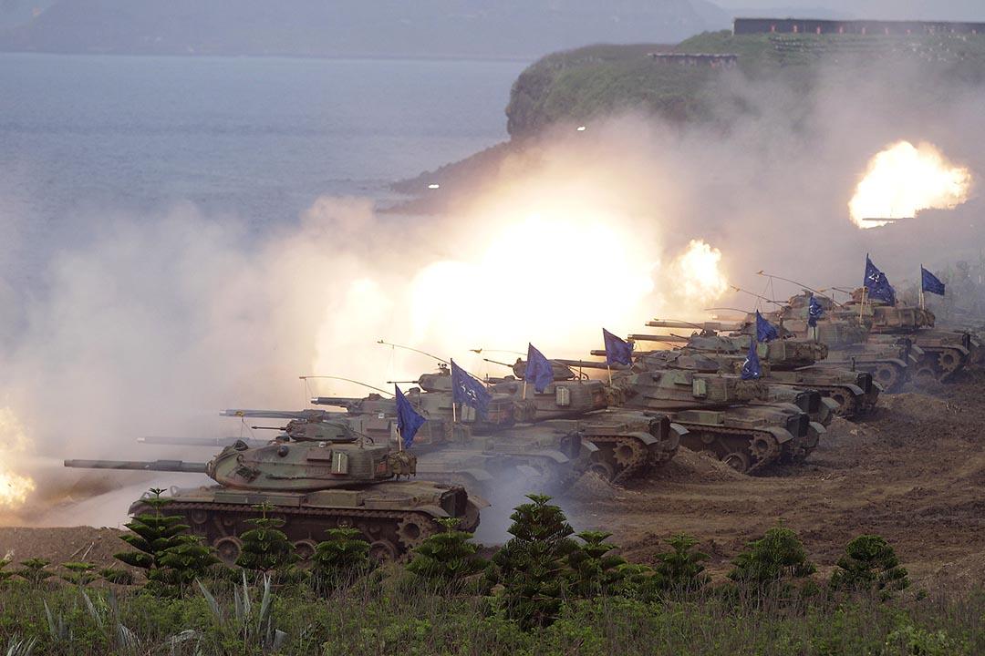 2013年,M60A3 坦克參加漢光軍事演習。攝:Pichi Chuang/REUTERS
