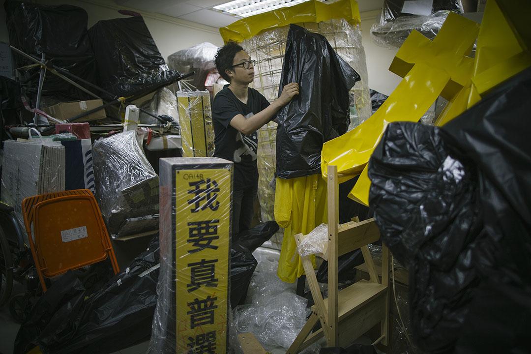 雨傘運動視覺文化庫存計劃成員黃宇軒。攝:葉家豪/端傳媒