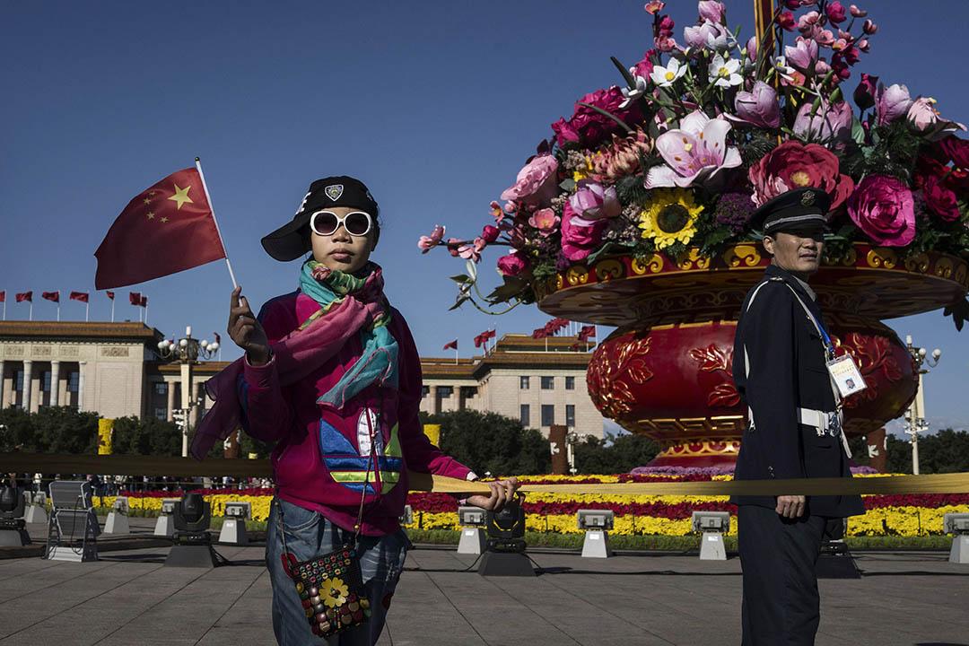 北京天安門廣場。攝:Kevin Frayer/Getty