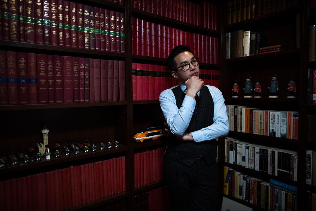 公民黨候選人楊岳橋。攝:盧翊銘/端傳媒