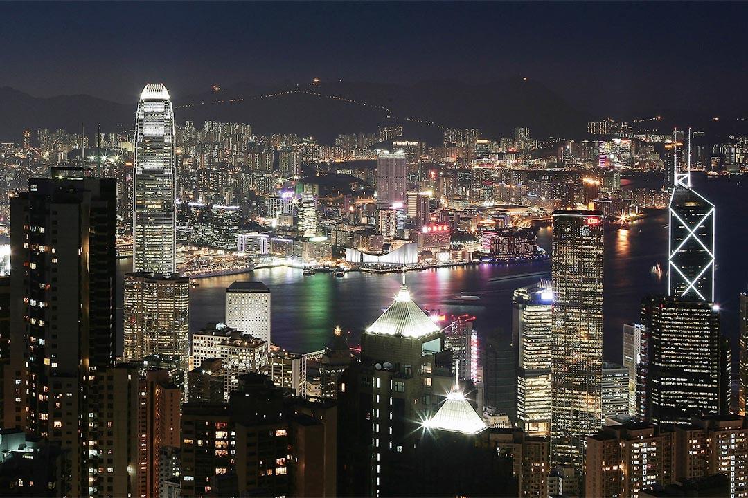 香港夜景。攝:China Photos/Getty
