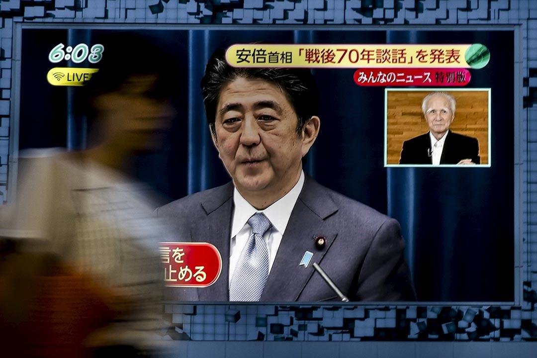 日本首相安倍晉三為對戰時行為表示痛徹反省並致歉。 攝:Toru Hanai/REUTERS