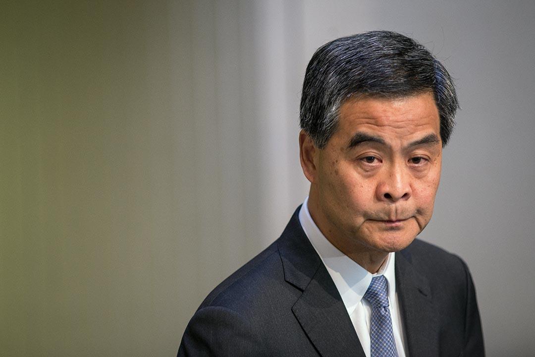 梁振英引述王光亞稱,香港反水貨客等活動傷害了內地旅客的感情,需要做不少工作彌補。攝 : Billy H.C. Kwok/端傳媒