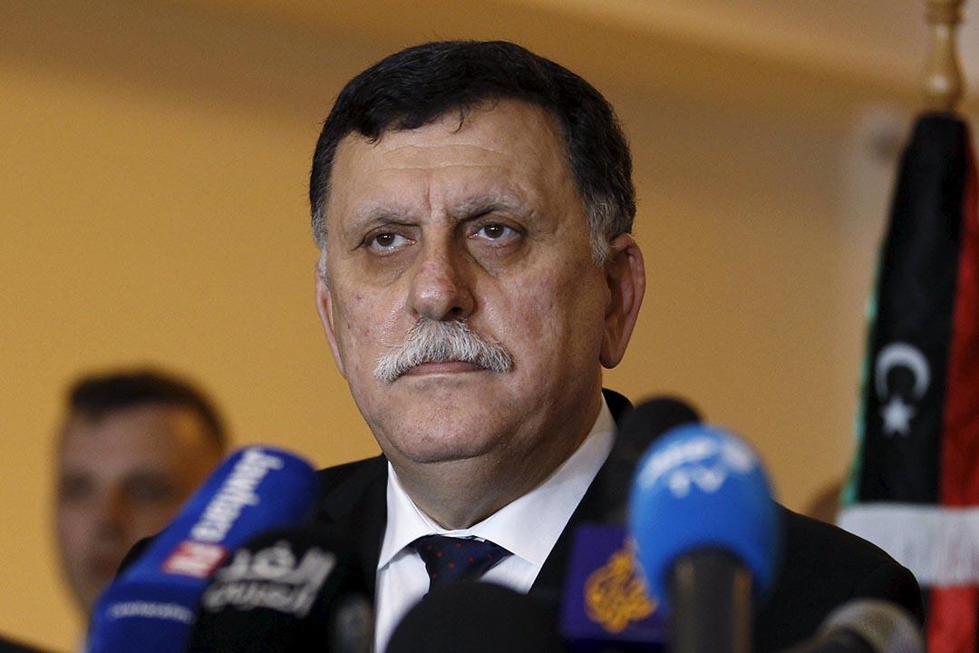 在聯合國斡旋下,利比亞宣布成立新的聯合政府,由資深政客薩拉傑(Fayez Al-Sarraj)任總理,內閣成員包括各大政治及軍閥派系代表,希望能爭取廣泛認可。攝 : Zoubeir Souissi/REUTERS