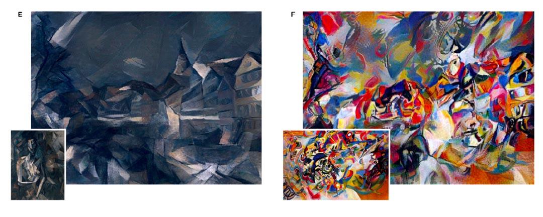 研究者們挑選了一張圖賓根大學的照片,以及梵高、畢加索等大師的風格作進行試驗。