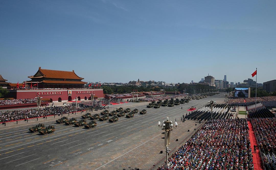 中國人民解放軍大閱兵。 攝 : REUTERS