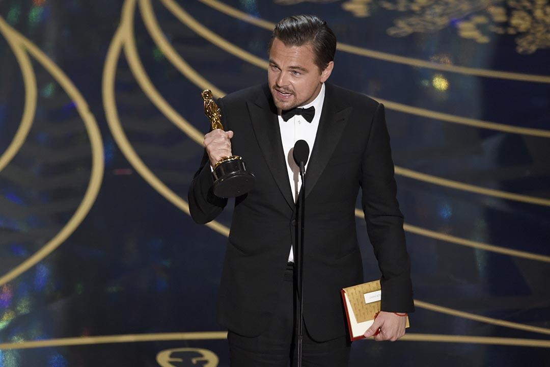 里安納度憑《復仇勇者》獲奧斯卡影帝。攝 : Chris Pizzello/Invision/AP
