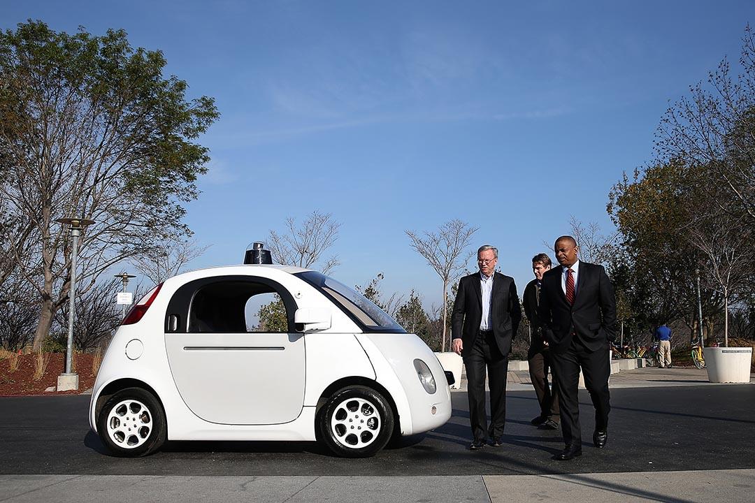 Google 無人駕駛汽車原型。攝: Justin Sullivan/GETTY