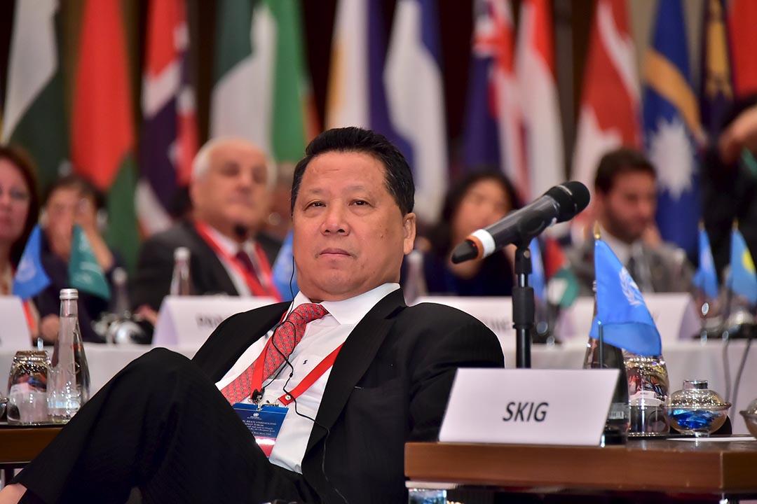 澳門地產公司新建業集團主席兼總裁吳立勝。攝:United Nations Office for South-South Cooperation/Handout via Reuters
