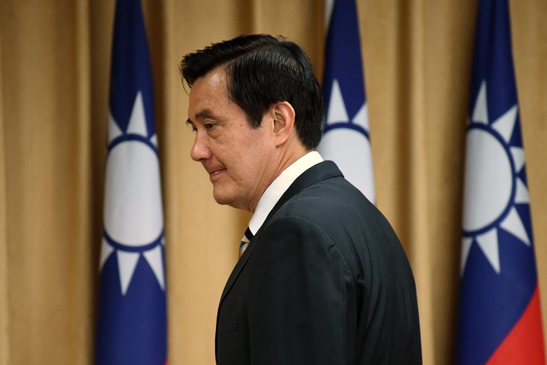 2015年4月29日,台灣總統馬英九於台北出席大陸委員會會議。攝:Sam Yeh/AFP