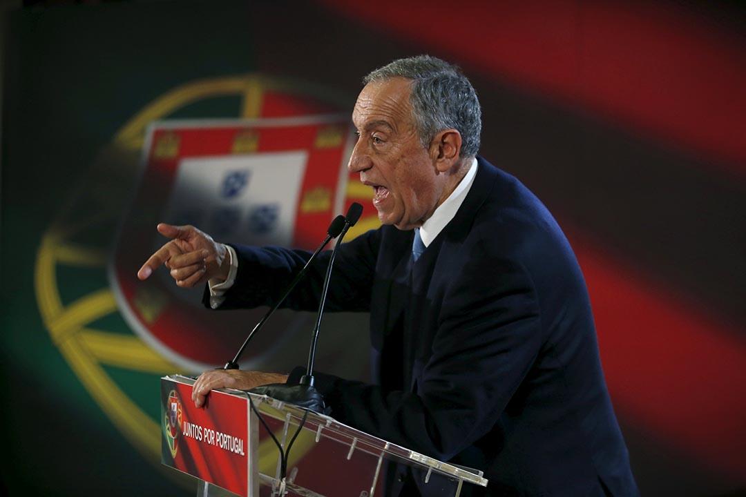 葡萄牙法學教授德索薩(Marcelo Rebelo de Sousa)當選新一任總統。攝 : Rafael Marchante/REUTERS