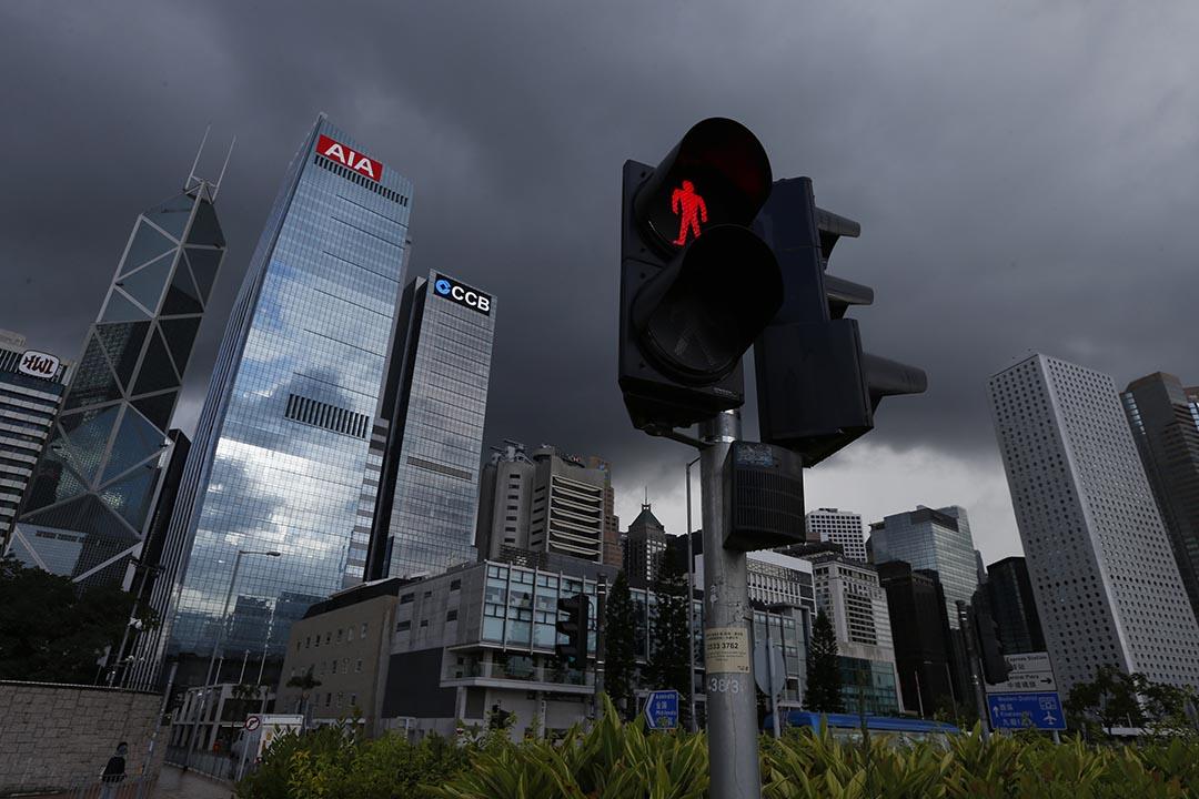 9月10日,全國工商聯房地產商會香港分會公開表態,支持在中環設立電車行人專區的提案。攝 : Bobby Yip/REUTERS
