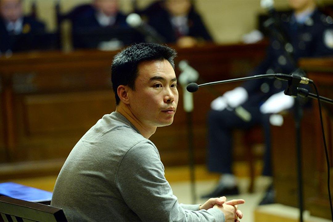 2016年1月7日,北京海淀法院,快播前CEO王欣出席快播涉嫌傳播淫穢物品牟利案審訊。攝:JHPHOTO / IMAGINECHINA
