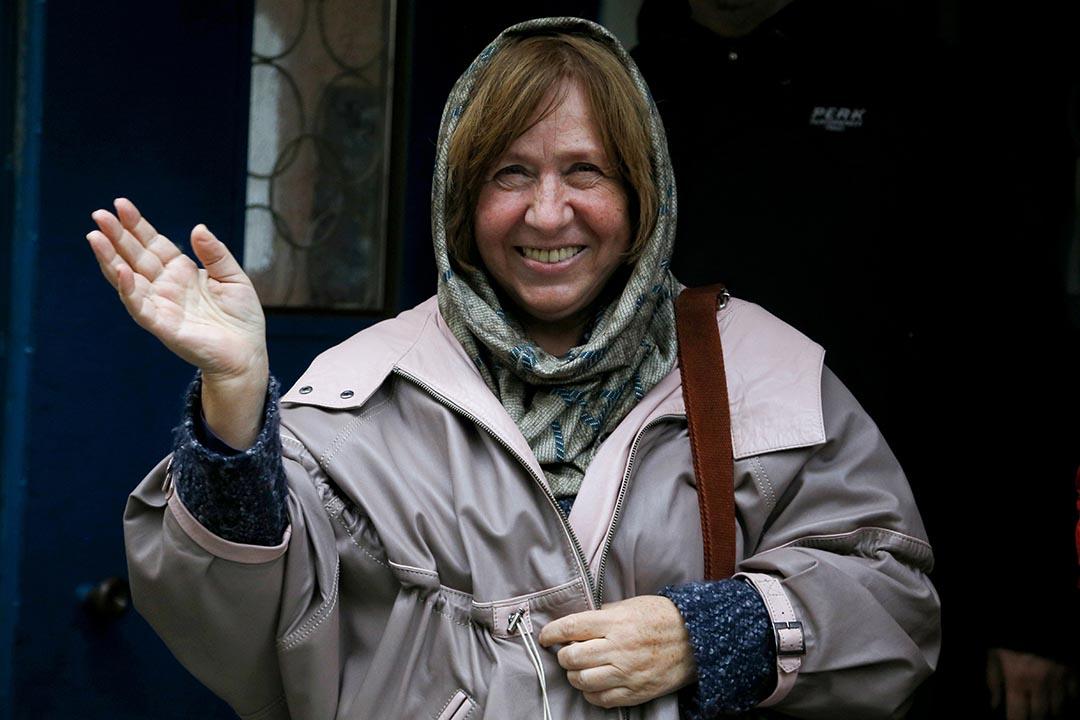 奪得今年的諾貝爾文學獎的白俄羅斯女作家阿列克謝耶維奇(Svetlana Alexievich)。 攝:Sergei Grits/AP