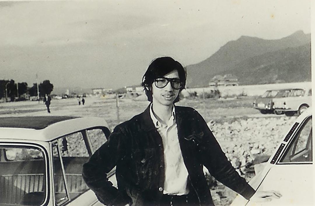 71年湯家驊在沙田。受訪者提供照片